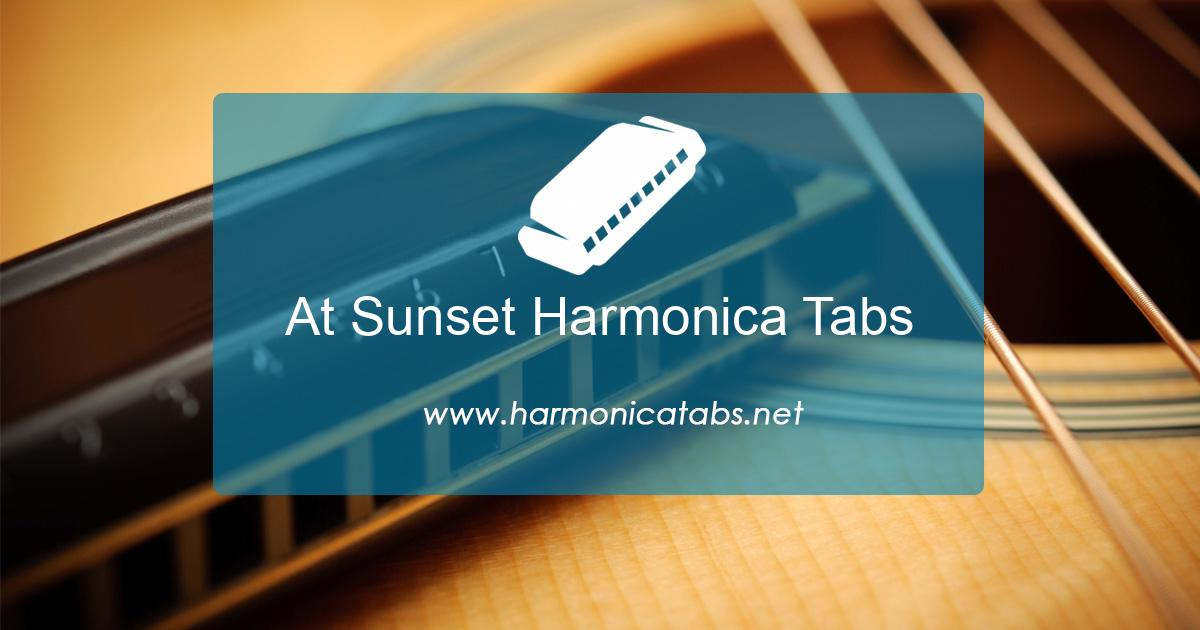 At Sunset Harmonica Tabs