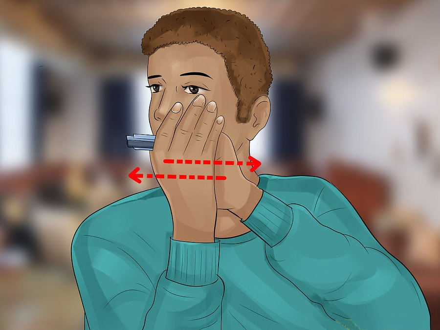 How to hold Harmonica - Holding Your Harmonica step 7