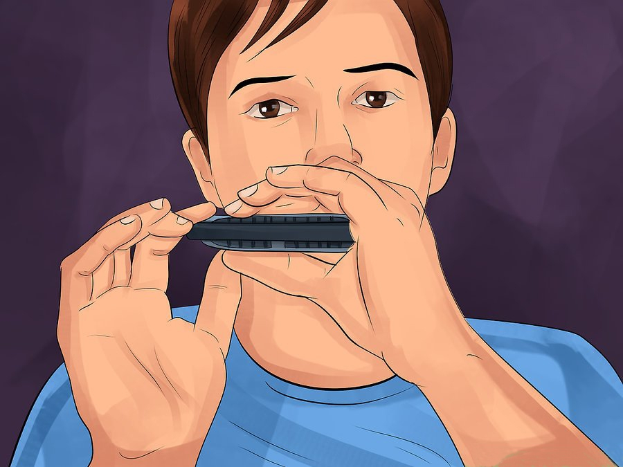 How to hold Harmonica - Holding Your Harmonica step 9